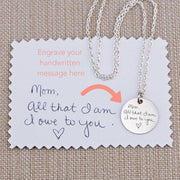 Custom Handwriting Necklace 3/4 inch – Necklace – georgie designs personalized jewelry