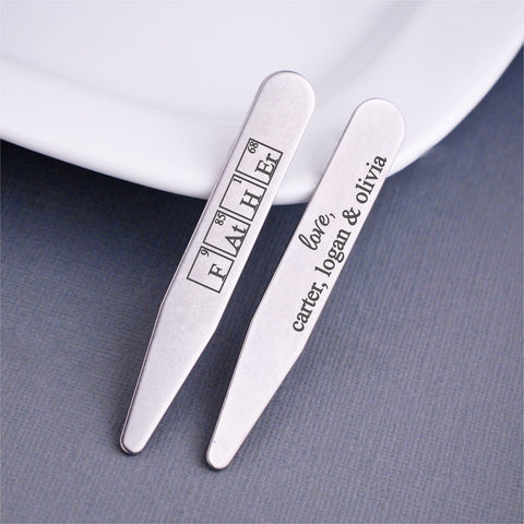 Periodic Table of Elements - 'Father' Collar Stays
