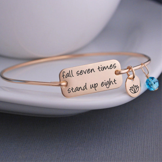 Fall Seven Times Stand up Eight Bracelet – bracelet – Love, Georgie