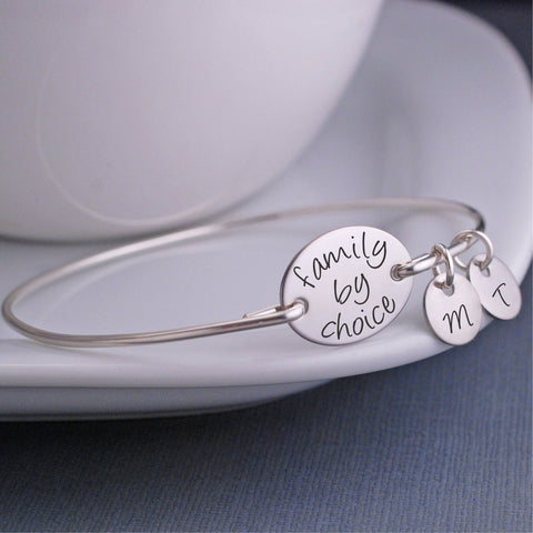 Family by Choice Bangle Bracelet - silver