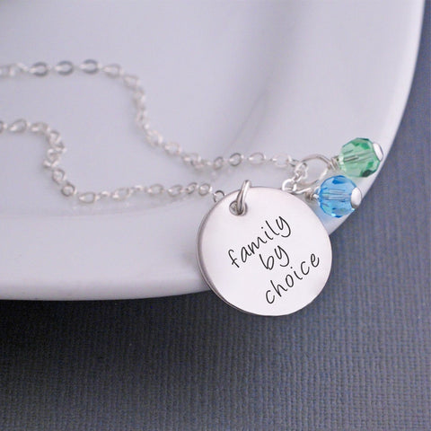 Family By Choice Necklace in silver