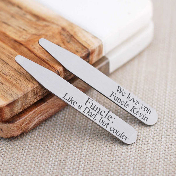 Collar Stays - Personalized Funcle – Collar Stays – Love, Georgie