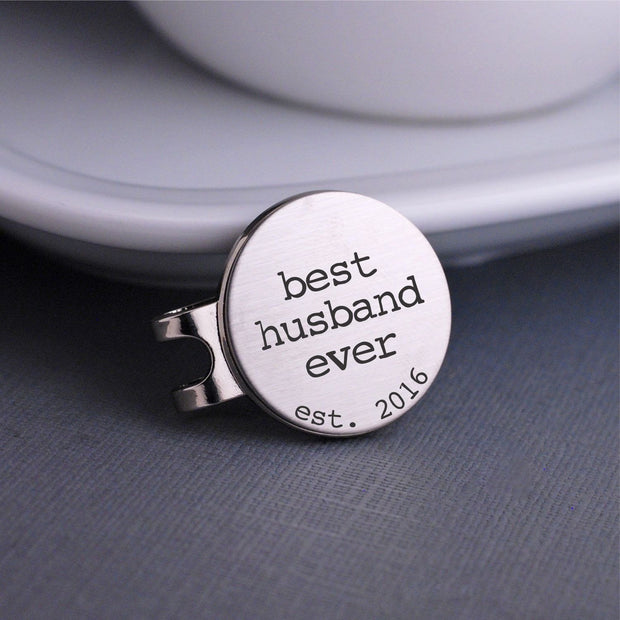 Best Husband Ever Golf Ball Marker – Golf Ball Markers – Love, Georgie