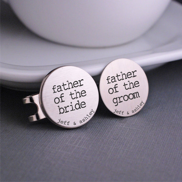 Father of the Bride & Groom Golf Ball Markers – Golf Ball Markers – Love, Georgie