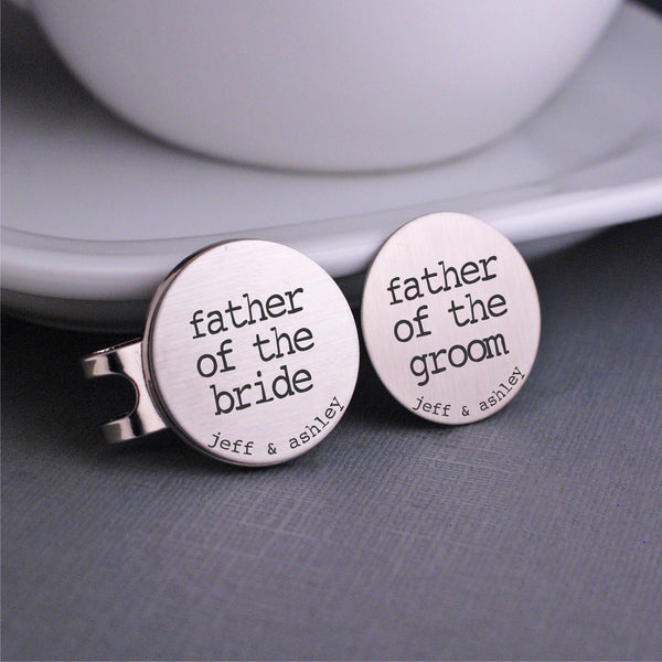 Father of the Bride & Groom Golf Ball Markers