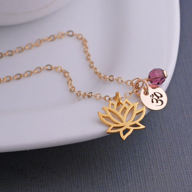 Lotus Pendant Necklace – Necklace – georgiedesigns