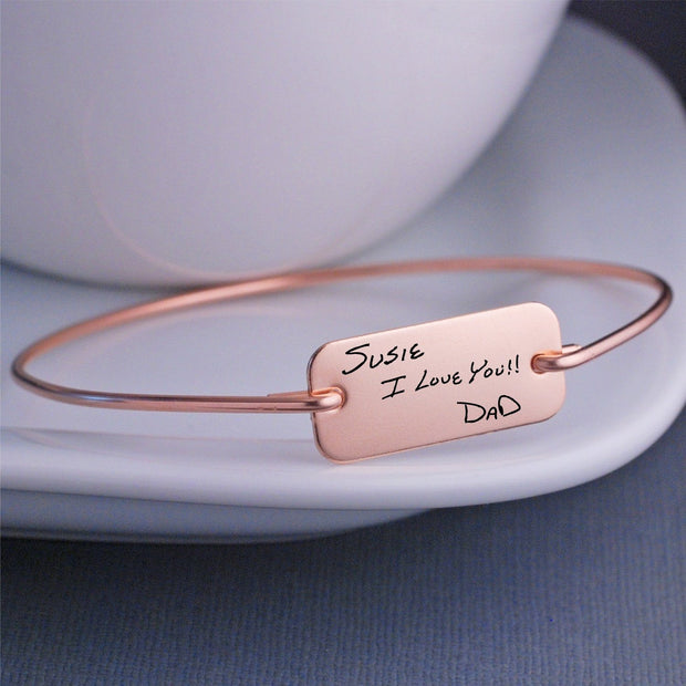 personalized custom handwritten bracelet