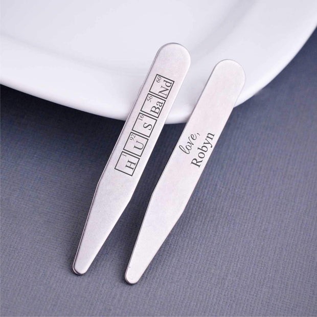 Periodic Table of Elements - 'Husband' Collar Stays – Collar Stays – Love, Georgie