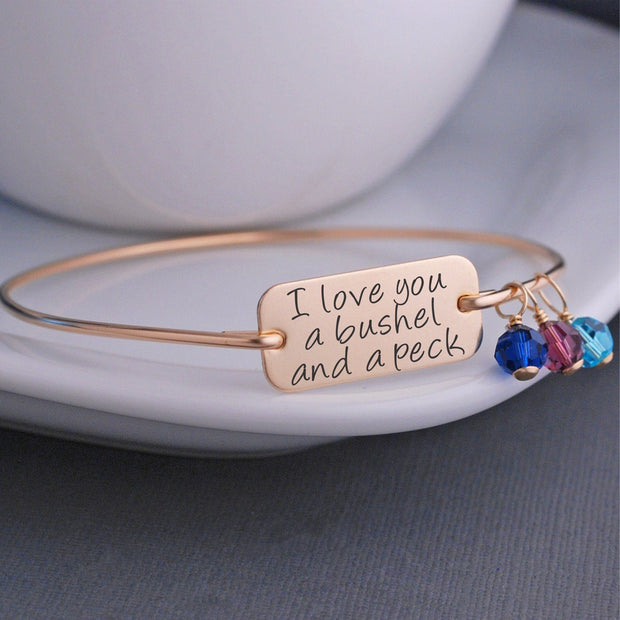I Love You a Bushel and a Peck Bracelet – bracelet – Love, Georgie