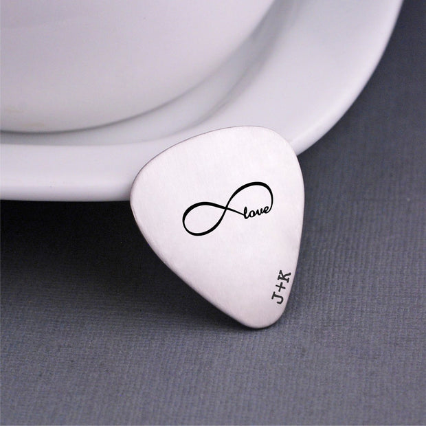 Personalized Infinity Guitar Pick – – Love Georgie