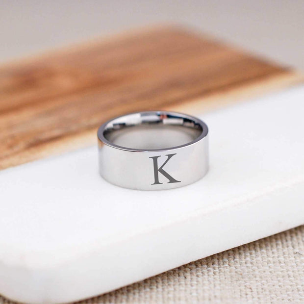 Initial Ring - 8mm – Ring – Love, Georgie