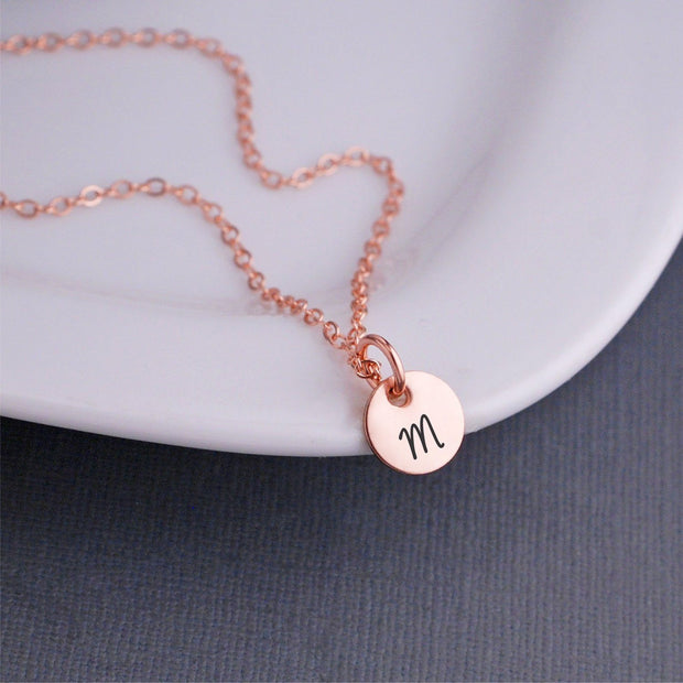 Engraved Initial Necklace – Necklace – Love, Georgie