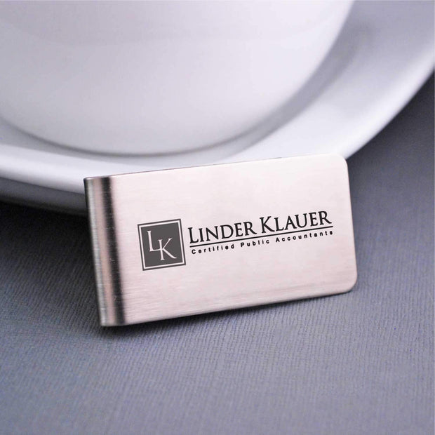 Corporate Logo Money Clip - Corporate Swag Gift engraved by Love, Georgie
