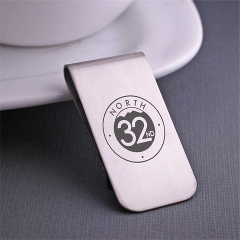 Corporate Logo Money Clip - Corporate Swag Gift - Stainless Steel