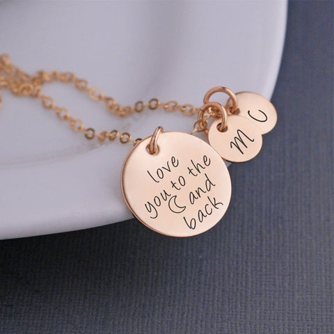 love you to the (moon) and back necklace - gold