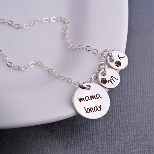 Mama Bear Necklace Mother S Day Gift For Mom Mama Bear