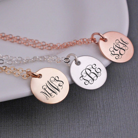 Monogram Pendant Necklaces