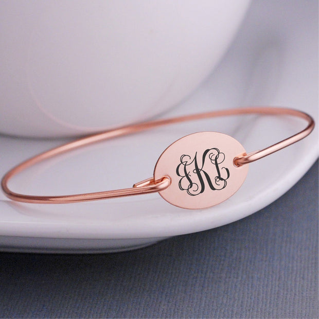 Monogram Bangle Bracelet – bracelet – Love, Georgie