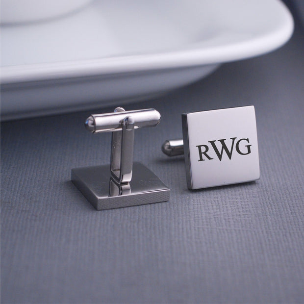 Custom Monogram Cufflinks – Cuff Links – Love, Georgie