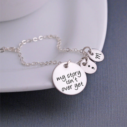 My Story Isn't Over Yet Necklace silver