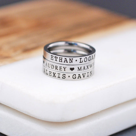 Name Ring - 3mm