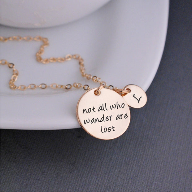 Not All Who Wander Are Lost Necklace – Necklace – georgiedesigns