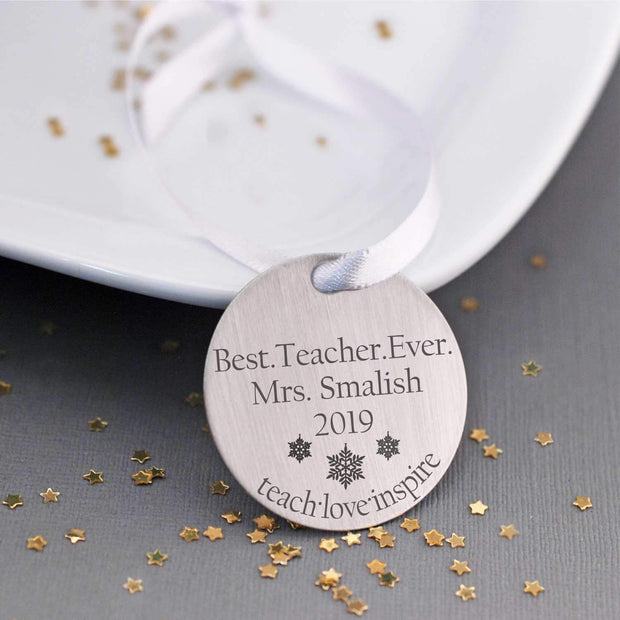 Tree Ornament - Best Teacher Ever – Ornament – Love, Georgie