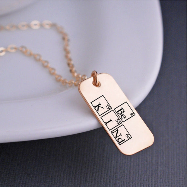 Periodic Table Be Kind Necklace – Necklace – Love Georgie