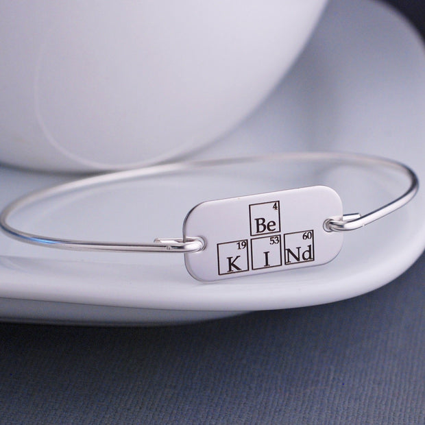 Be Kind Periodic Table Bangle Bracelet – bracelet – Love, Georgie