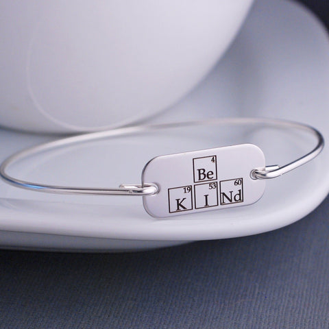 Be Kind Periodic Table Bangle Bracelet