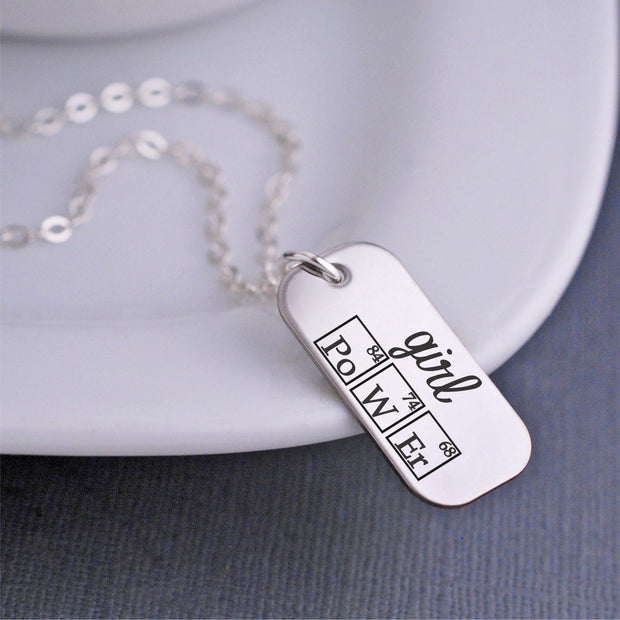 Periodic Table Girl Power Necklace – Necklace – Love Georgie