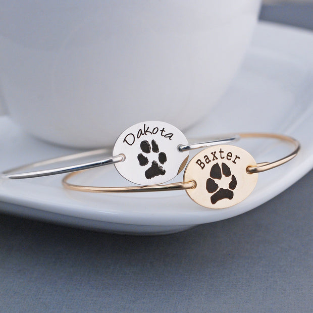 Your Pet's Paw Print Bracelet – bracelet – Love, Georgie
