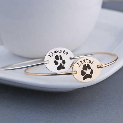 Your Pet's Paw Print Bracelet