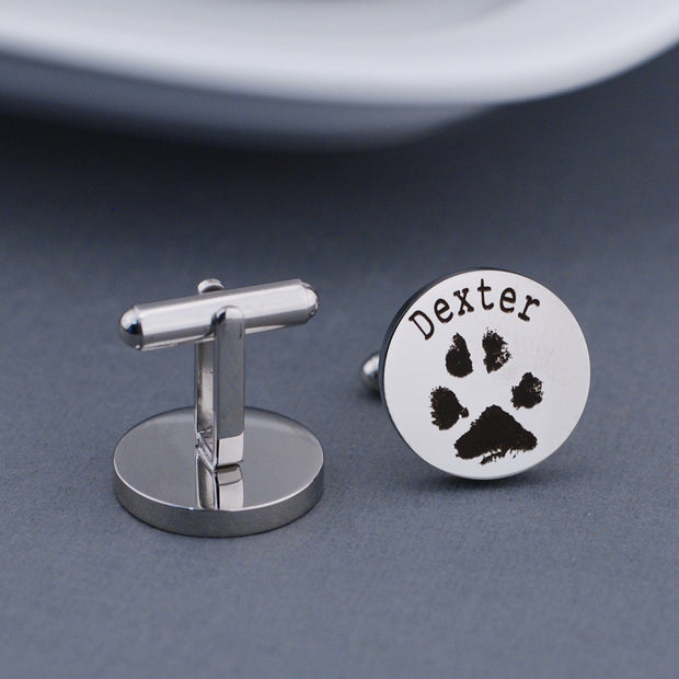 Your Pet's Paw Print Cufflinks – Cuff Links – Love, Georgie