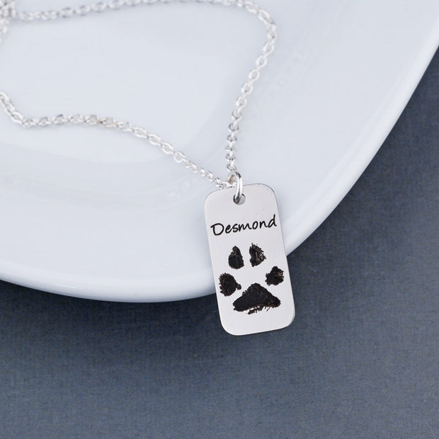 Your Pet's Paw Print Necklace – Necklace – Love, Georgie