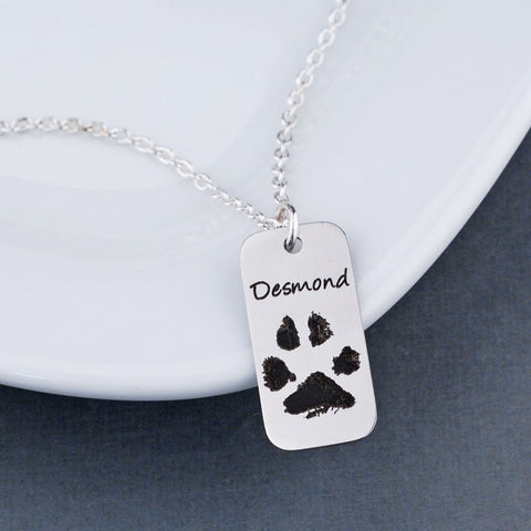 Your Pet's Paw Print Necklace