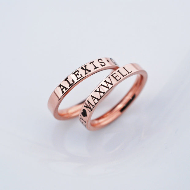 Rose Gold Name Ring - 3mm – Ring – Love, Georgie