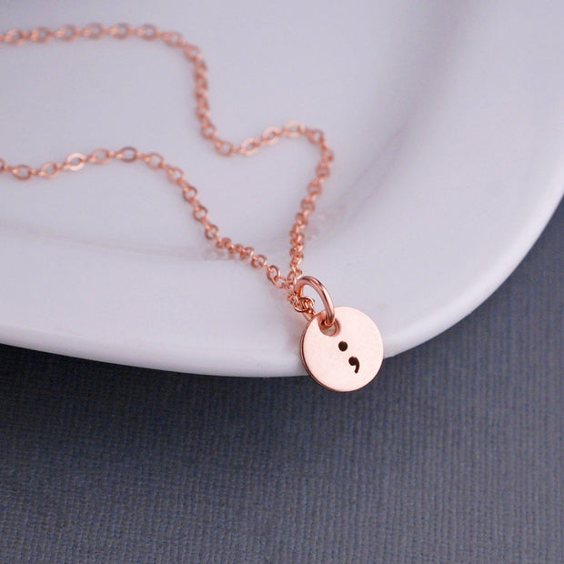 Semicolon Necklace – Necklace – georgiedesigns