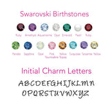 optional charms and birthstones
