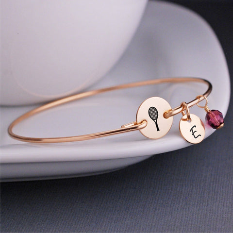 Tennis Racquet bracelet in gold