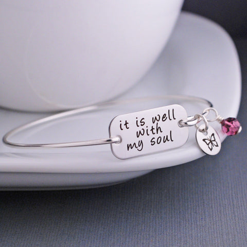 It Is Well With My Soul - Silver Bracelet
