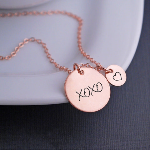 XOXO Necklace in rose gold