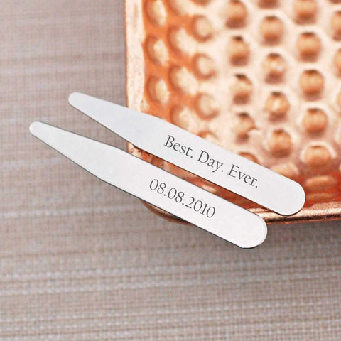 Collar Stays - Best. Day. Ever. Wedding Date