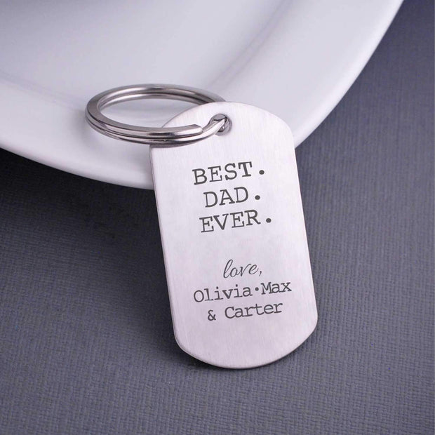Personalized Best Dad Ever Keychain – Keychain – Love, Georgie