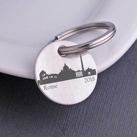 Custom City Skyline Keychain
