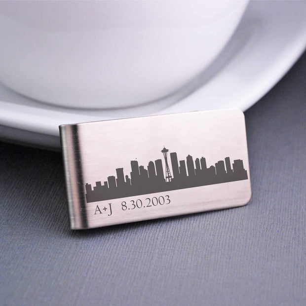 Custom Money Clip: City Skyline – Money Clip – Love, Georgie