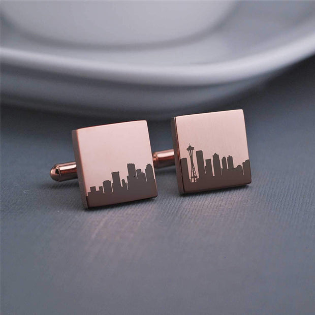 Custom City Skyline Cufflinks – Cuff Links – Love, Georgie