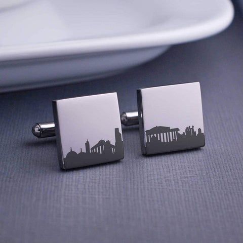 Custom City Skyline Cufflinks
