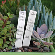 Custom Grandmother's Love Grows Here Garden Marker Set – – georgie designs personalized jewelry