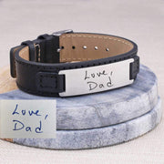 Leather Bracelet - Engraved Handwriting – bracelet – Love, Georgie